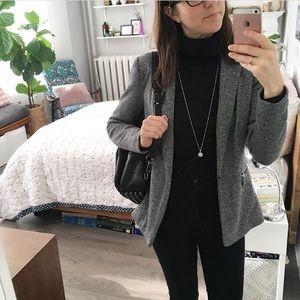 Vero Moda sweatshirt knit blazer - marled grey